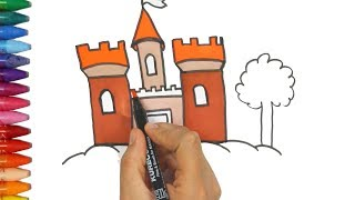Download Gambar dan pewarnaan kastil - Cara Menggambar dan Mewarnai TV Anak Video