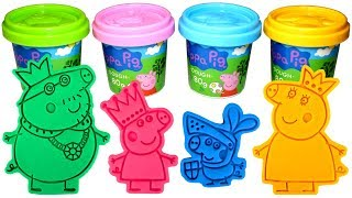 Download Peppa Pig Royal Family Molds and Play Doh with Princess Peppa Daddy King Mummy Queen Sir George Toys Video