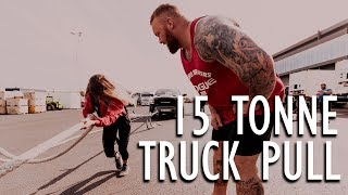 Download THE MOUNTAINS WIFE PULLS A TRUCK! Video