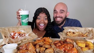 Download WINGSTOP MUKBANG 먹방!!! WITH 4 FLAVORED CHICKEN WINGS!!! BUFFALO RANCH FRIES & CORN Video