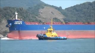 Download Entrada de Navio no Porto de Santos Sp Video