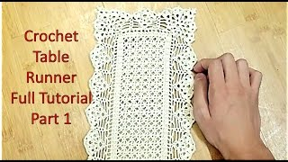 Download Learn How to Crochet TABLE RUNNER and Customize it's Length Tutorial Part 1 Video