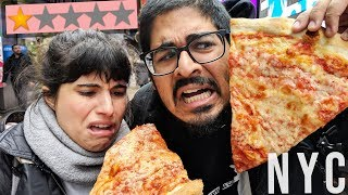 Download Eating the Worst Rated Pizza in New York City Video