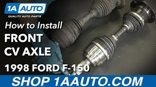 Download How to Install Replace Front CV Axle 1997-03 Ford F-150 Video