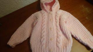 Download Sueter con gorro para bebé talla 18 meses, parte 1, espalda. Video