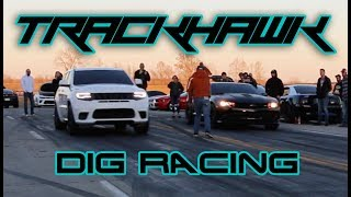 Download Stock Jeep TrackHawk vs 450-800hp cars (8 min of just racing) Video