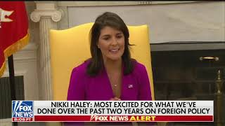 Download Nikki Haley announces resignation, claims US is 'respected' again Video