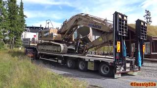 Download 4K| Volvo FH 520 Transporting A Komatsu HB215 Hybrid Excavator Video