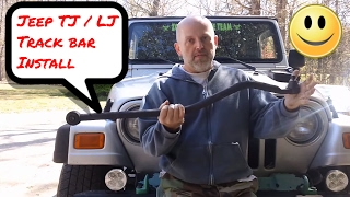 Download Jeep Wrangler - TJ / LJ - Got Death Wobble? Change the Front Track Bar Video