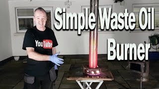 Download Awesome Output Tin Can Waste Oil burner. Video