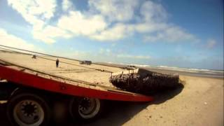 Download TSUNAMI 39 FOOT SKIFF ON WA BEACH Video