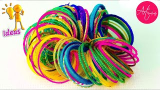 Download 3 Easy way to reuse old bangles at home | Best out of waste | Art with Creativity Video