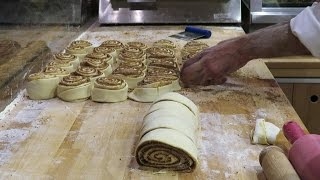 Download London Street Food. Making Sweet Cinnamon Roll and Strudel Video