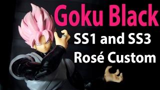 Download Goku Black SS1 and SS3 Rosé SH Figuarts Custom Video