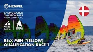 Download Full RS:X Men Yellow Fleet Qualification Race 1 | Aarhus 2018 Video