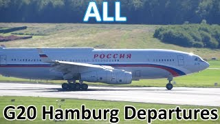 Download G20 Hamburg | ALL Government/Presidential Aircraft Departures - Planespotting at Hamburg (2017) Video