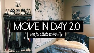 Download MOVE-IN DAY 2.0 + NEW DORM ROOM TOUR | San Jose State University Video