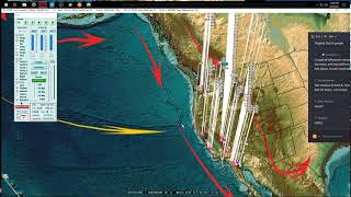 Download 10/09/2017 - San Francisco California Earthquake - Pacific Unrest spreads from M6.0 increase Video