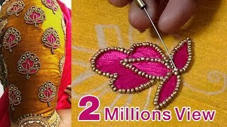 Download aari work blouse for beginners | aari motif designs | blouse designs | diy | #189 Video
