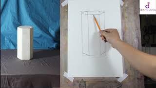 Download Bài 04: Hướng dẫn vẽ dựng hình khối lục lăng- Học vẽ mỹ thuật Online Video