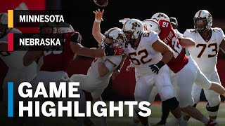 Download Highlights: Minnesota Golden Gophers vs. Nebraska Cornhuskers | Big Ten Football Video