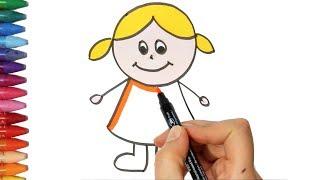 Download Cara menggambar anak perempuan - Cara Menggambar dan Mewarnai TV Anak Video