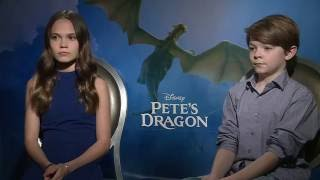 Download Pete's Dragon Interview - Oakes Fegley & Oona Laurence Video