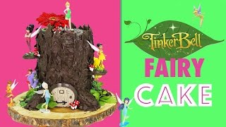 Download Tinkerbell Fairy CAKE - How to make a Tree Stump Cake with Tinker Bell Fairies Video