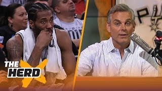 Download Colin isn't buying Kawhi is warming up to Raptors, Talks biggest losers in trade | NBA | THE HERD Video