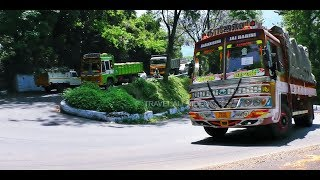 Download Ashok Layland Lorry, TATA Lorry, Govt Bus, Car, Tempo are Turn Traffic on 7th Ooty Hills Bend Road. Video