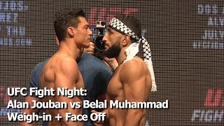 Download UFC Fight Night: Alan Jouban vs Belal Muhammad Weigh-in + Face Off Video