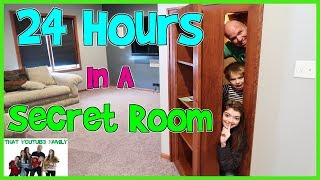 Download 24 HOURS - In A Hidden Secret Room / That YouTub3 Family |The Adventurers Video
