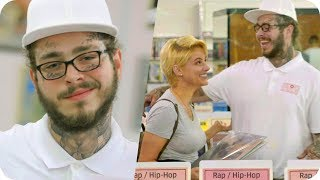 Download Post Malone Pranks People with Undercover Record Store Surprise // Omaze Video