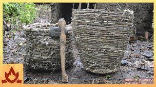 Download Primitive Technology: Baskets and stone hatchet Video