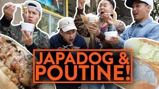 Download JAPANESE HOTDOGS AND POUTINE FRIES IN CANADA - Fung Bros Food Video