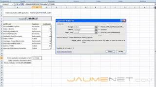 Download Excel 2007 Funcion SUMAR.SI Video