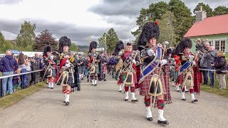 Download Massed pipes & drums parade to the 2018 Braemar Gathering Royal Highland Games in Scotland (4K) Video