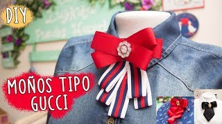 Download Como hacer MOÑOS O BROCHES TIPO GUCCI o VICTORIANOS/3 modelos super faciles de hacer/bow brooch DIY Video