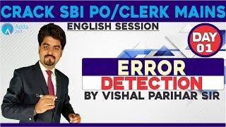 Download SBI PO/CLERK |ERROR DETECTION FOR SBI PO/CLERK MAINS |DAY 1| Vishal sir Video