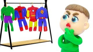 Download BABY NEW SUPERHERO COSTUME IDEAS 💖 Play Doh Stop Motion Cartoons Video