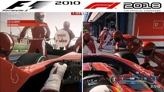 Download F1 Game Comparison (2010 - 2018 PIT Stop Gameplay Comparison) Video