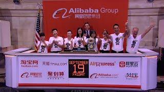 Download Alibaba Celebrates it's IPO on the New York Stock Exchange Video