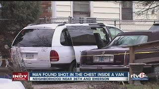 Download Man found shot in van on Indy's northeast side Video