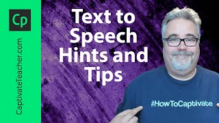 Download Adobe Captivate Text to Speech Hints and Tips Video