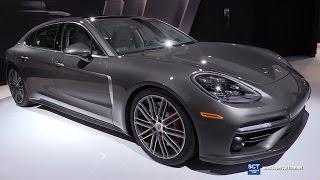 Download 2017 Porsche Panamera Turbo Exsecutive - Exterior, Interior Walkaround - Debut at 2016 LA Auto Show Video