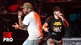 Download Eminem ft. 50 Cent - Patiently Waiting, In Da Club, I Get Money, Crack a Bottle [Multicam] (NY 2018) Video
