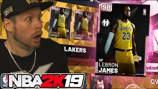 Download 98 OVERALL PINK DIAMOND LEBRON! ROOKIE PACKS! NBA 2K19 Video