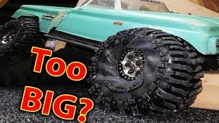 Download Traxxas TRX-4 Tires Too BIG? Full Video Video