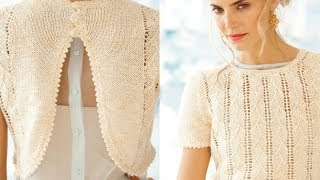 Download #4 Swag Back Top, Vogue Knitting Early Fall 2013 Video
