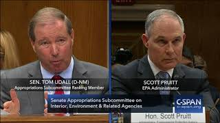 Download Exchange between Sen. Udall & EPA Administator Pruitt (C-SPAN) Video